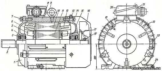 Асинхронный электродвигатель с