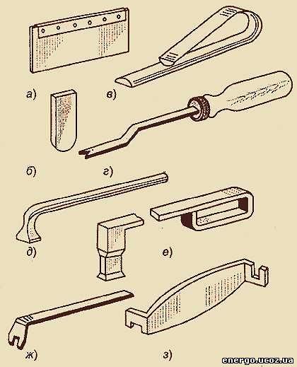 набор инструмента для укладки обмоток